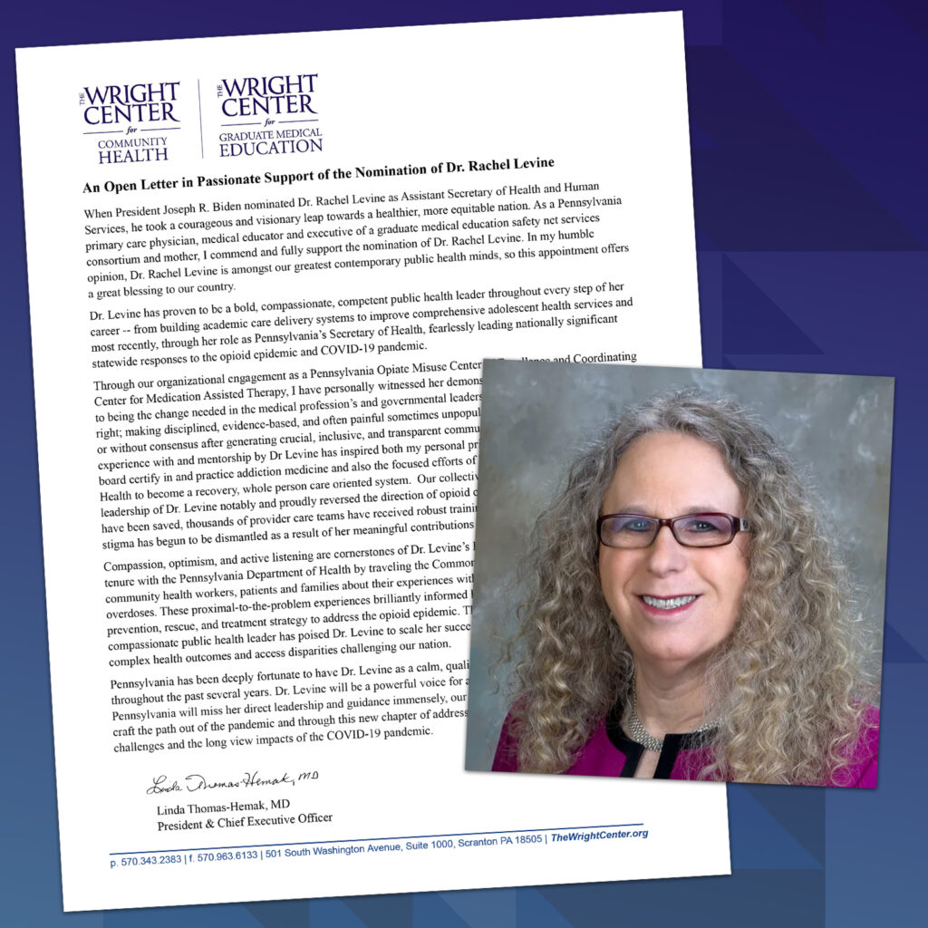 An Open Letter in Passionate Support of the Nomination of Dr. Rachel Levine